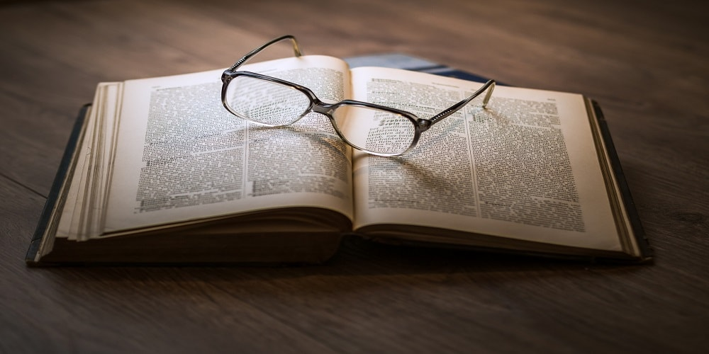Image of a legal book and glasses to indicate GDPR training