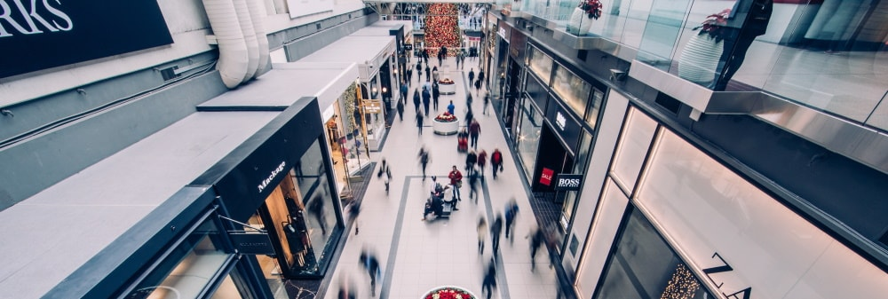 Shopping centre, B2B and B2C ecommerce