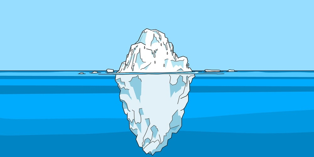 graphic image of an iceberg