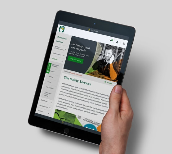 HIA Australia Sitecore website on tablet