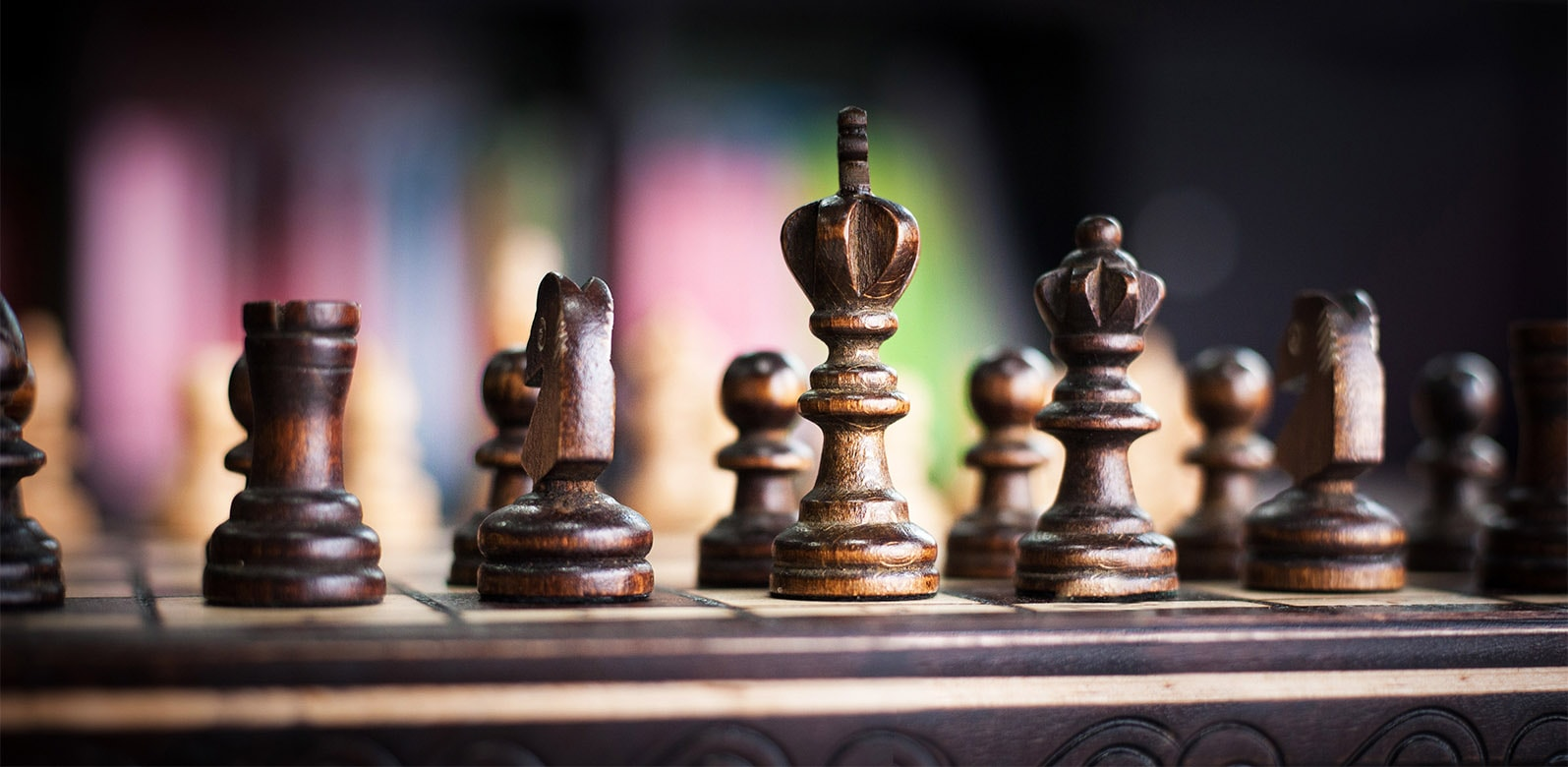 Digital strategy, chess board