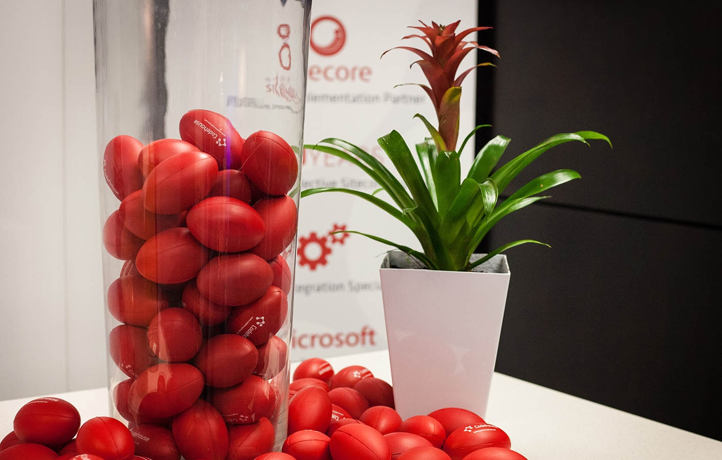 Sitecore partner in London, vase with codehouse balls